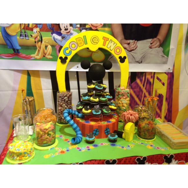 Mickey Mouse Clubhouse Candy Buffet By Sweet Royals
