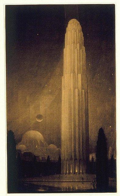 Philosophy from The Metropolis of Tomorrow (1929)  Hugh Ferriss (1889–1962)