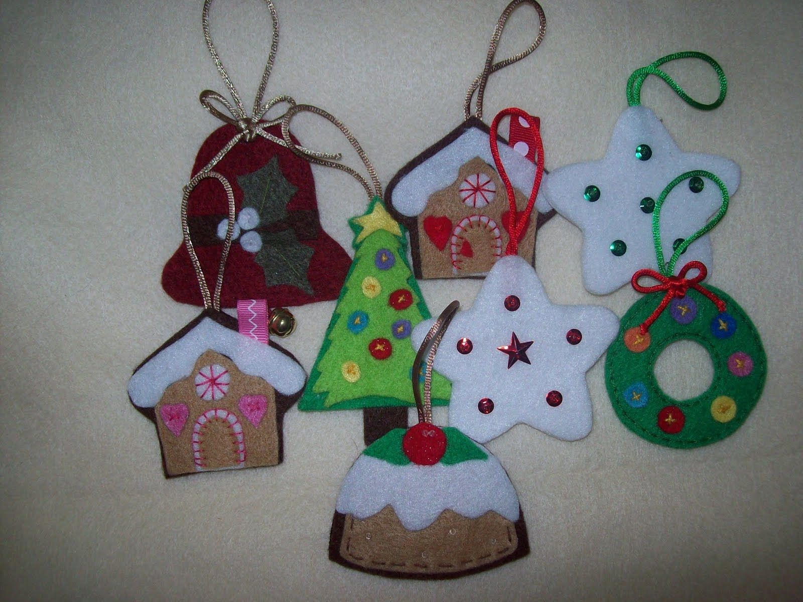Inspiraci n para labores de navidad en fieltro labores - Decoracion navidena fieltro ...