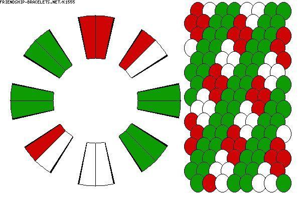 Kumihimo Christmas Patterns Found On Friendship Bracelets Net