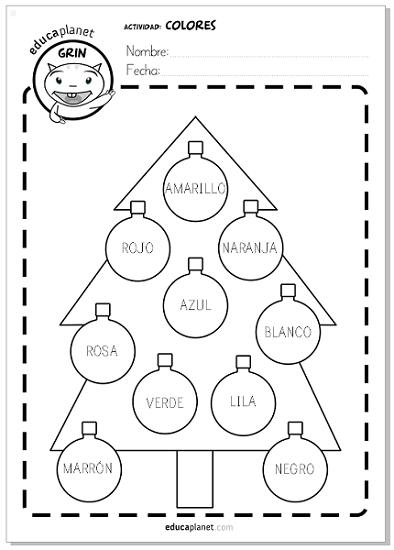 98e20ae5a61 Descarga esta ficha GRATIS para practicar los colores en Navidad en español  y en inglés para Preescolar e Infantil.