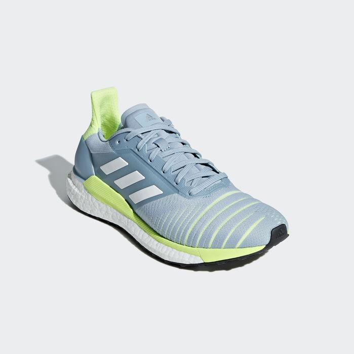 Solar Glide Shoes Grey 11.5 Womens   Blue shoes, Blue adidas