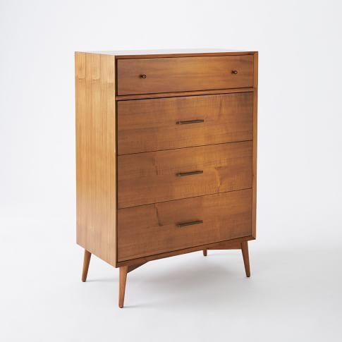 Best Mid Century 5 Drawer Dresser Narrow Mid Century 400 x 300