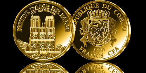 Oficjalna Zlota Moneta Upamietnia Gotycka Budowle Bedaca Symbolem Paryza Katedre Notre Dame Moneta Zostala Wybita W Gold Coins Notre Dame Personalized Items