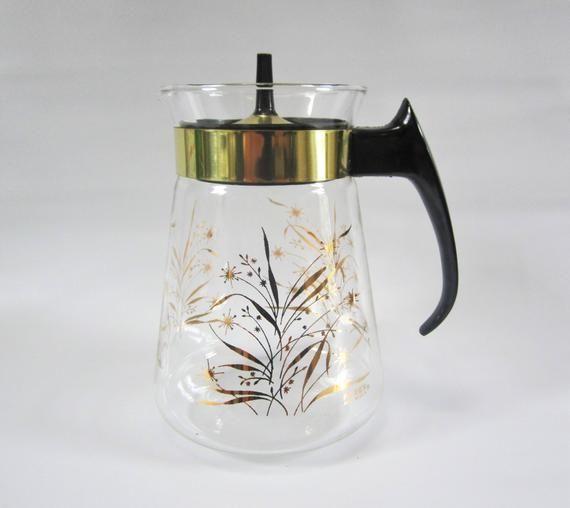 Mid Century Coffee Pot Server PYREX Coffee Server 1960s 6-cup #coffeeserver
