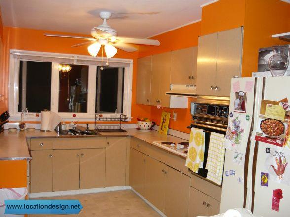 مطابخ مودرن باللون البرتقالي Kitchen Kitchen Cabinets Decor