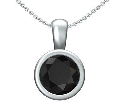Pendentif diamant noir femme