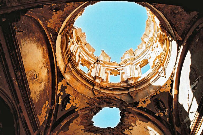 Belchite, a ghost town in the south of Spain