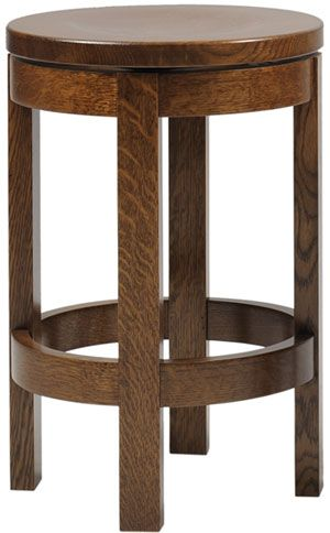 You'll save on every piece of furniture at Amish Outlet Store! We custom make every item, and you can get the Bradly Round Barstool in Oak with any wood and stain.