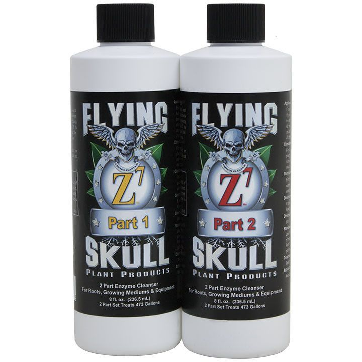 Flying Skull Z7 2-Part Concentrated Enzyme Cleanser, 8 Ounces (16 Ounces Total)
