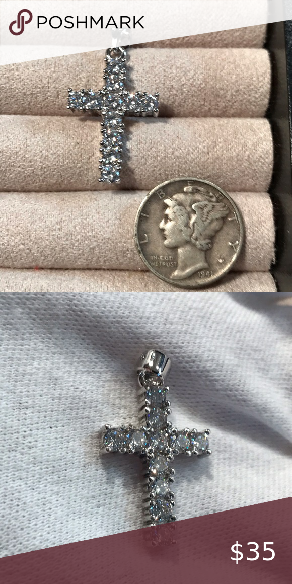 925 Stamped Silver Cross In 2020 Stamped Silver Silver Cross Jewelry Silver Cross