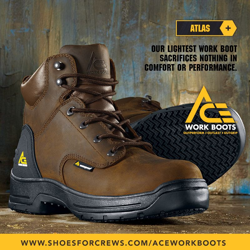 6af51a41ade Pin by Shoes For Crews on ACE Work Boots™ - Born to Grip, Built to ...