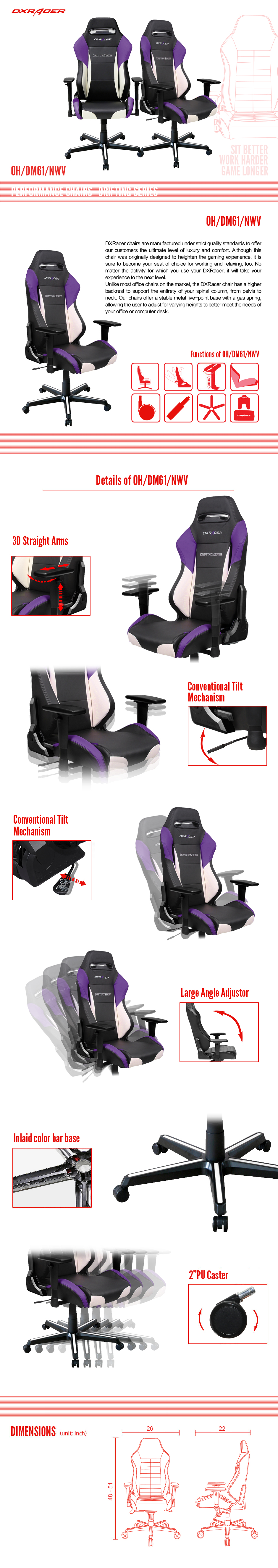 OH/DM61/NWV - Drifting Series - Performance Chairs | DXRacer Official Website - Best Gaming Chair and Desk in the World #FairfieldGrantsWishes