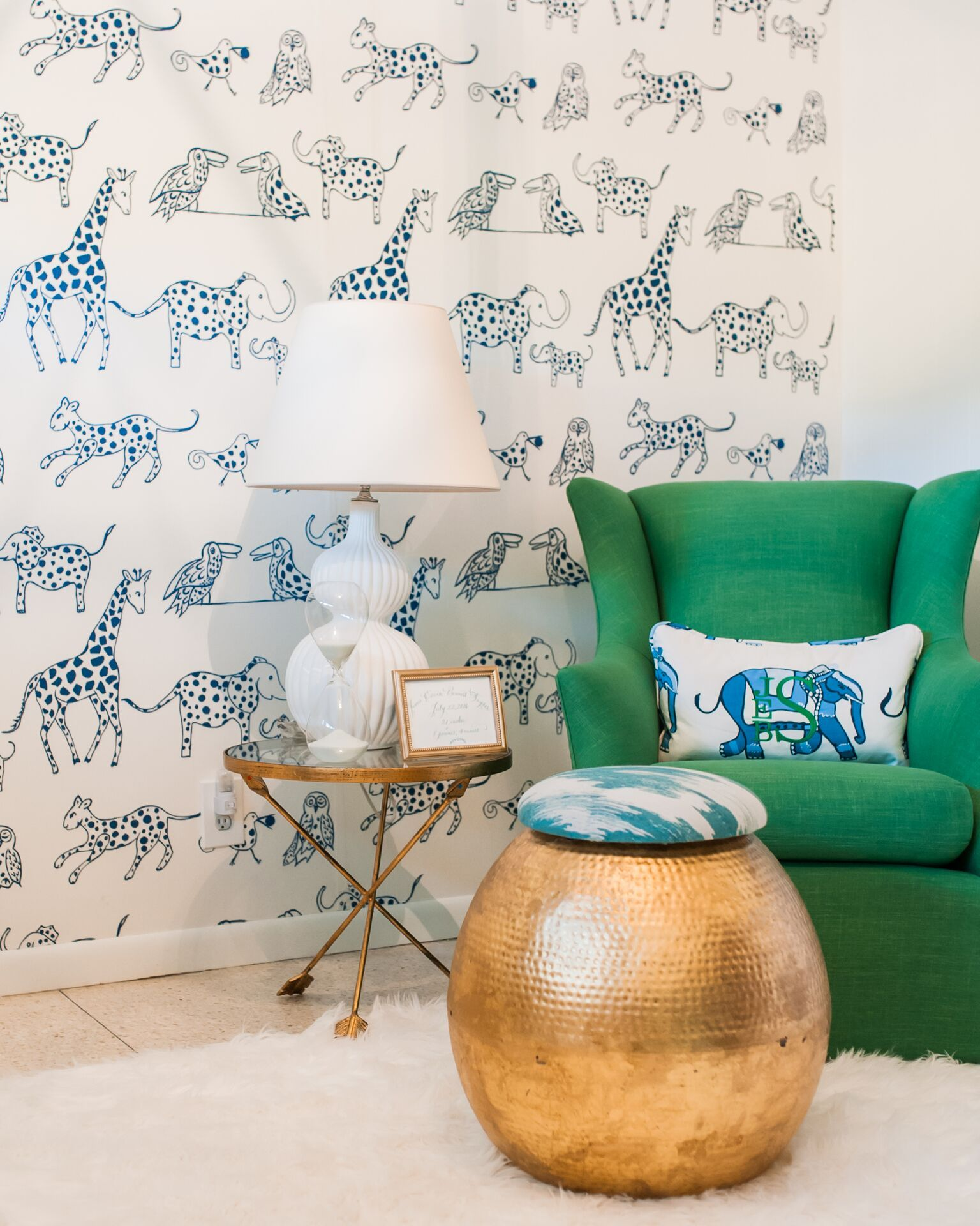 Betsey Mosby Interior Design | Jackson, MS | Sweet And Sophisticated  Nursery With Illustrated Animal