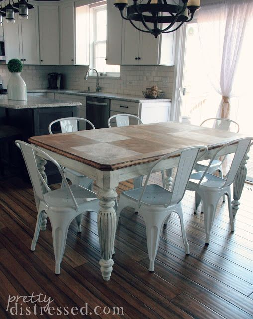 The Making Of A Farmhouse Table Table Top Decor Farmhouse Table Farmhouse Kitchen Design