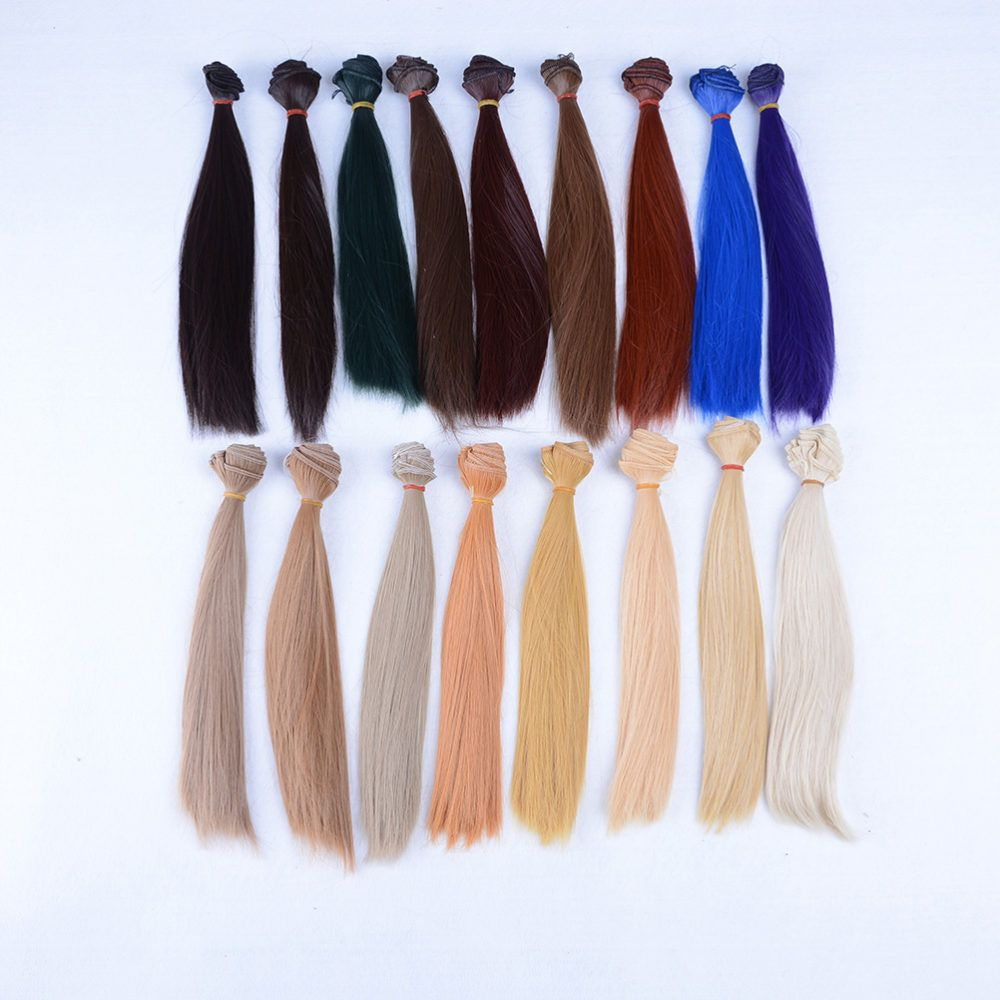 DIY Doll Wig High-temperature Wire Curly Hair for 1//3 1//4 1//6 BJD SD 15cm Long