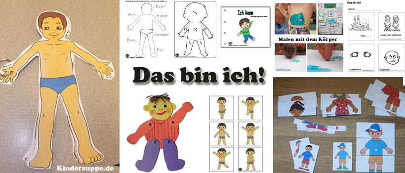 projekt das bin ich und mein k rper ideen fur kindergarten und kita k rperschema pinterest. Black Bedroom Furniture Sets. Home Design Ideas