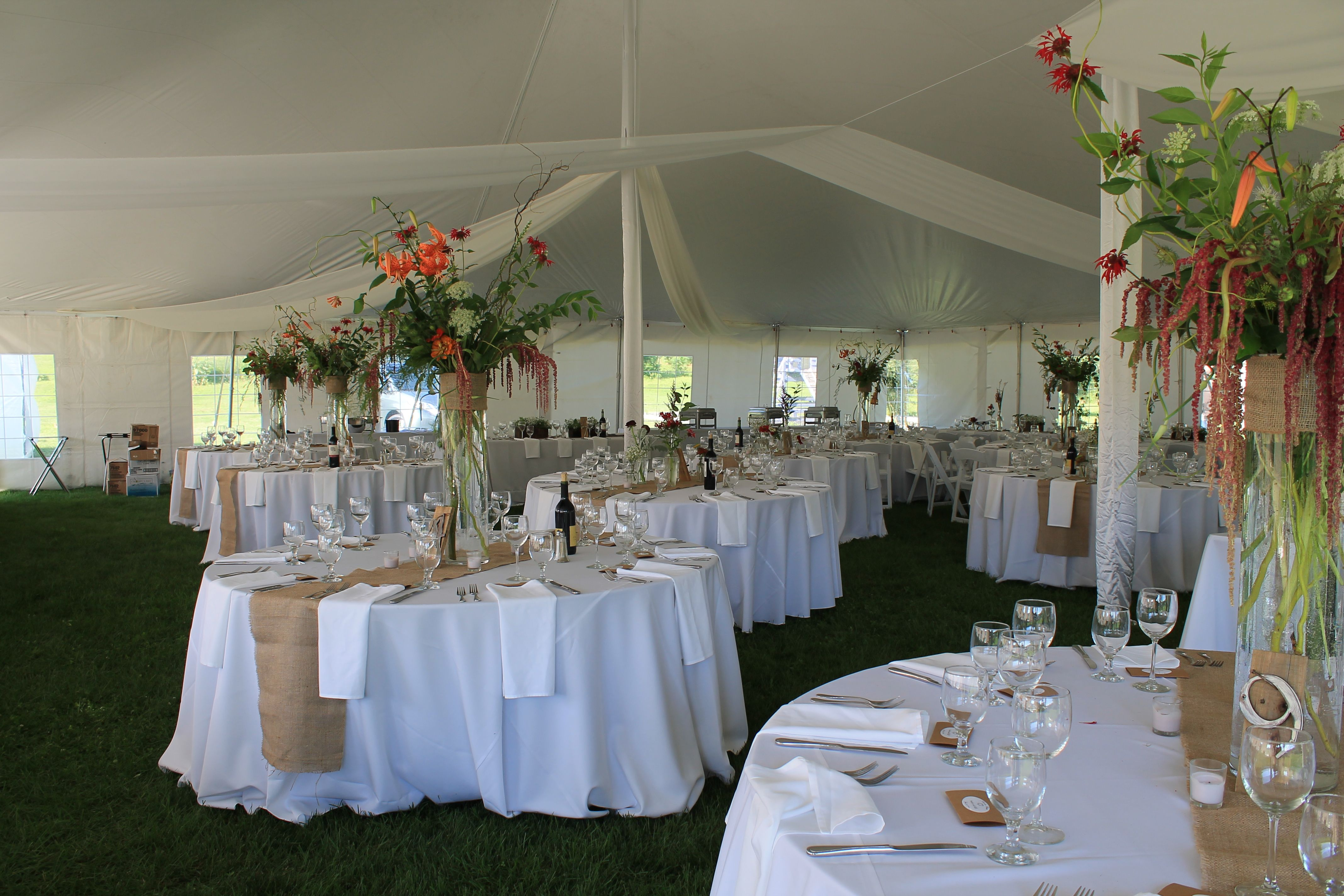 Gifford and Sarah 07.26.14 stunning tent set for dinner