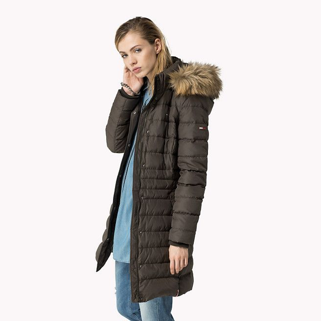 Hilfiger Denim Maria Down Filled Coat - black olive-pt (Black ...