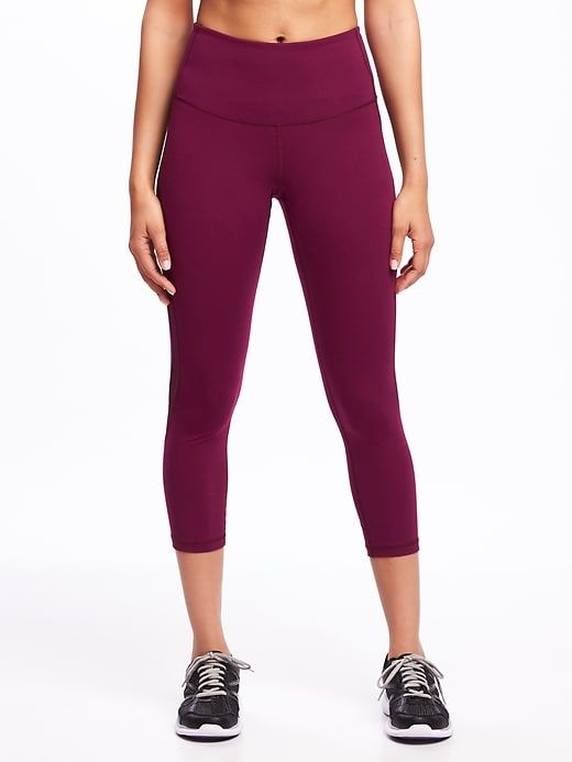 92a9bd332e96 High-Rise Mesh-Trim Compression Crops for Women | Old Navy | want ...