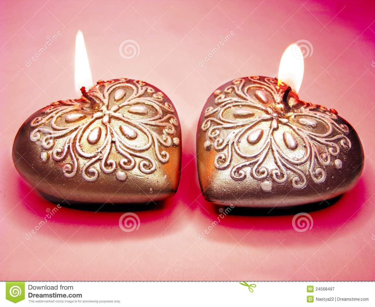 Heart scented aroma candles set