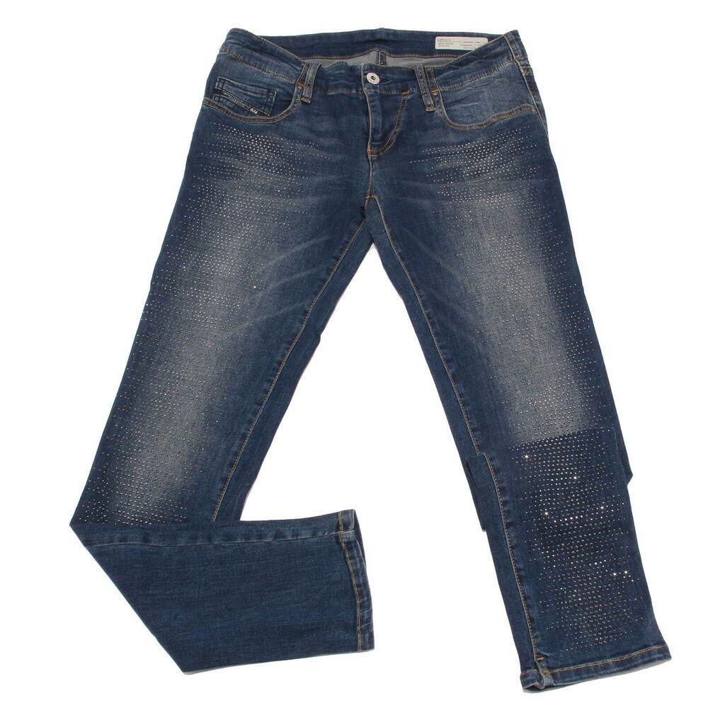 7169S jeans bimba GIRL DIESEL blue STRETCH pantalone con