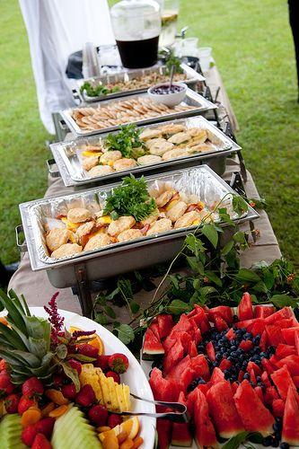 Sariah Josh S Rainbow Glow Stick Island Wedding Wedding Food Catering Reception Food Wedding Buffet