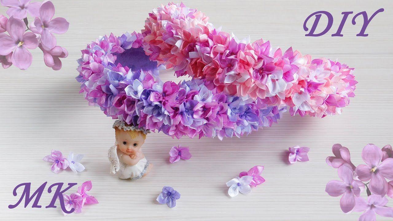 Цветы на ободок своими руками канзаши фото 478