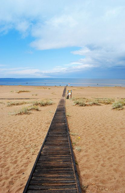 Sandy beaches of Kalajoki on the Gulf of Bothnia, part of the Baltic sea - Finland.