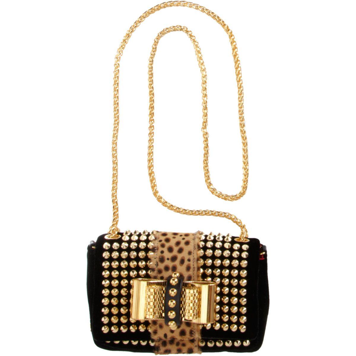 f6b29396cf1 Christian Louboutin Mini Sweet Charity Spikes Bag in Black (leopard ...
