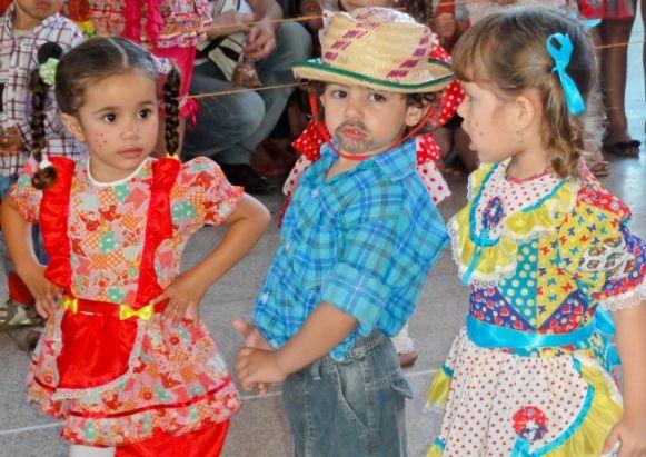 Junina infantil vestidos
