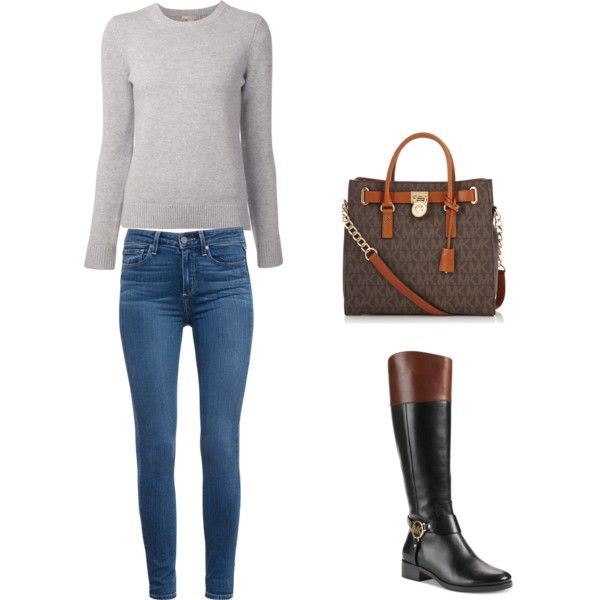 A fashion look from December 2014 featuring Michael Kors sweaters, Paige Denim jeans and Michael Kors boots. Browse and shop related looks.