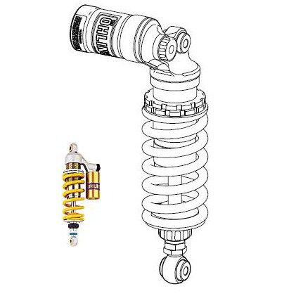 Ohlins Rear Shock Absorber for '07-'12 Triumph Street