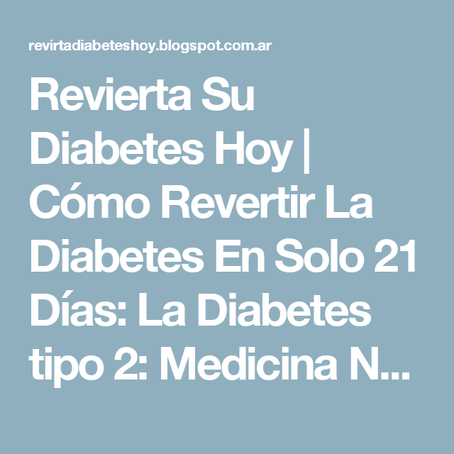 tom robertson revierta su diabetes