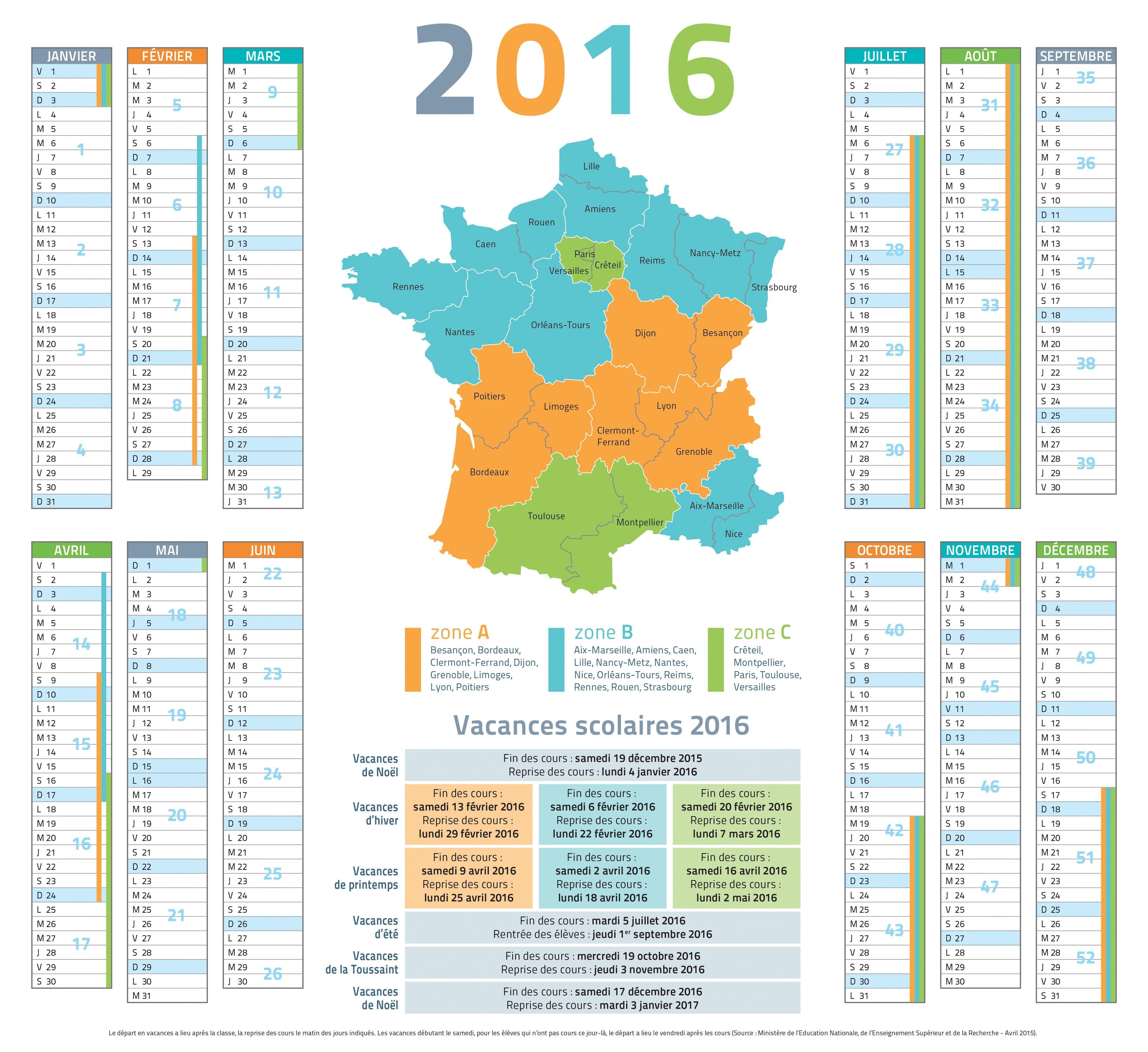 Vacances scolaires 2019 dates calendrier officiel 2018 2019 par zone vacances scolaires - Date vacances de paques 2017 ...
