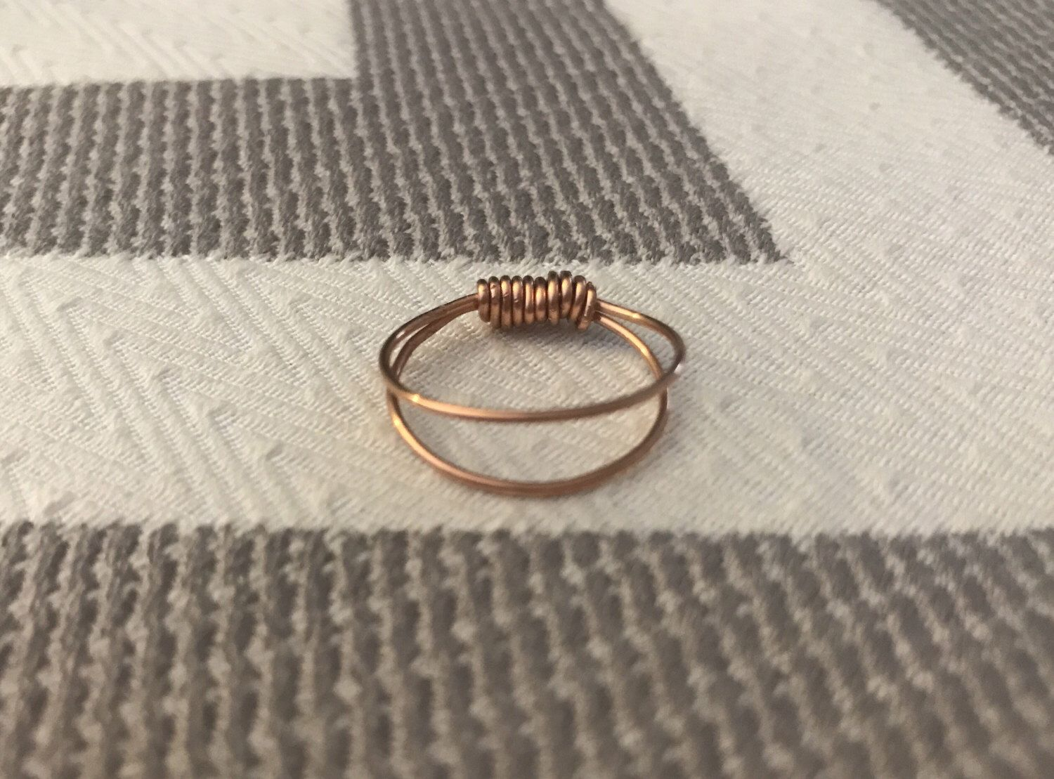 Set of Two Copper Midi Rings by Gingerproducts on Etsy https://www.etsy.com/listing/508063905/set-of-two-copper-midi-rings
