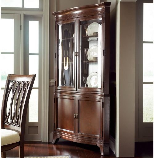American Drew Cherry Grove New Generation Corner China Cabinet   Dining  Accent Furniture At Hayneedle