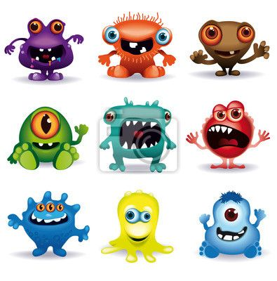 Little Vector Monsters Baby Bedding Funny monsters