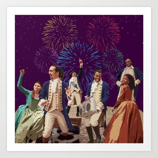 Hamilton Party Theme Art Print ~ $15 ~ Broadway Home Decor!