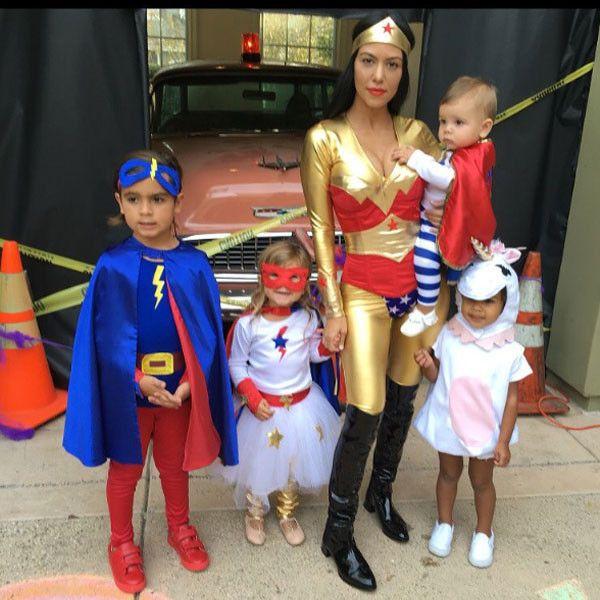 You Gotta See Kourtney Kardashian's Adorbs Superhero Family!