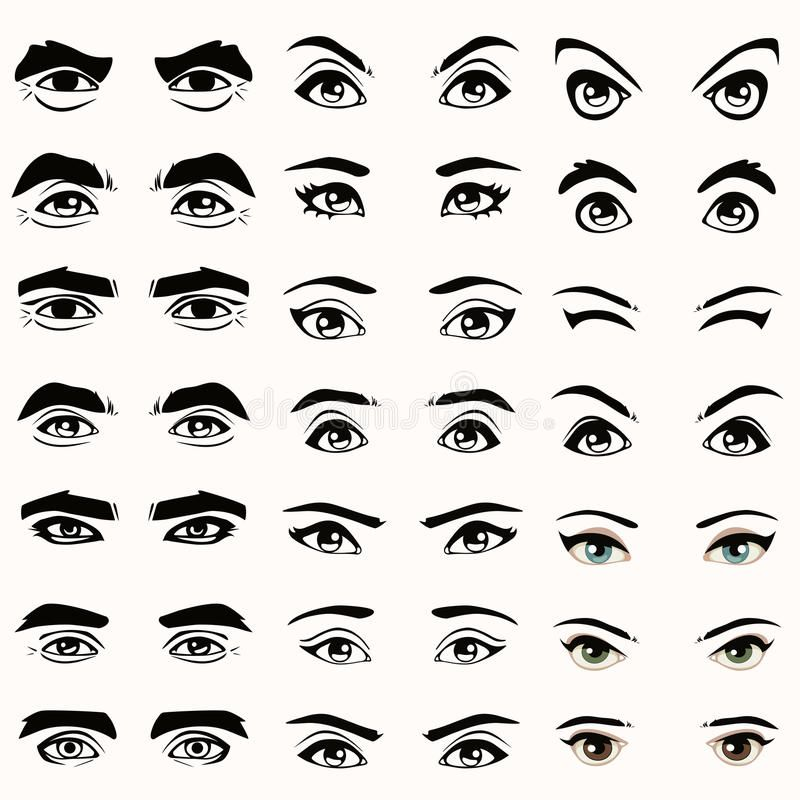 Eyes And Eyebrows Silhouette Female And Male Eyes And Eyebrows Silhouette Ad Silhouette Eyebrows Eye Drawing Silhouette Drawing How To Draw Anime Eyes