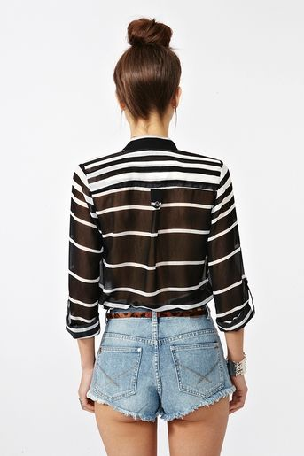 # Nasty Gal: Line Up Blouse