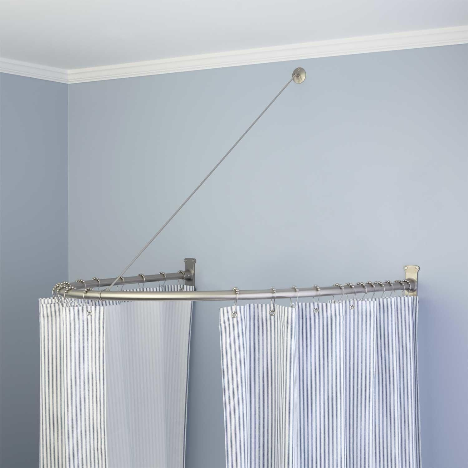 Neo-Angle Solid Brass Shower Rod and Ceiling Support | Neo angle ...