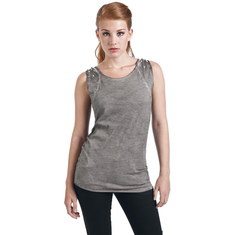 Shoulder Studs - Girlie trøje af Pussy Deluxe - Artikelnr.: 260423 - fra 199,95 kr - EMP Danmark ::: Merchandise ::: Streetwear ::: Modetøj