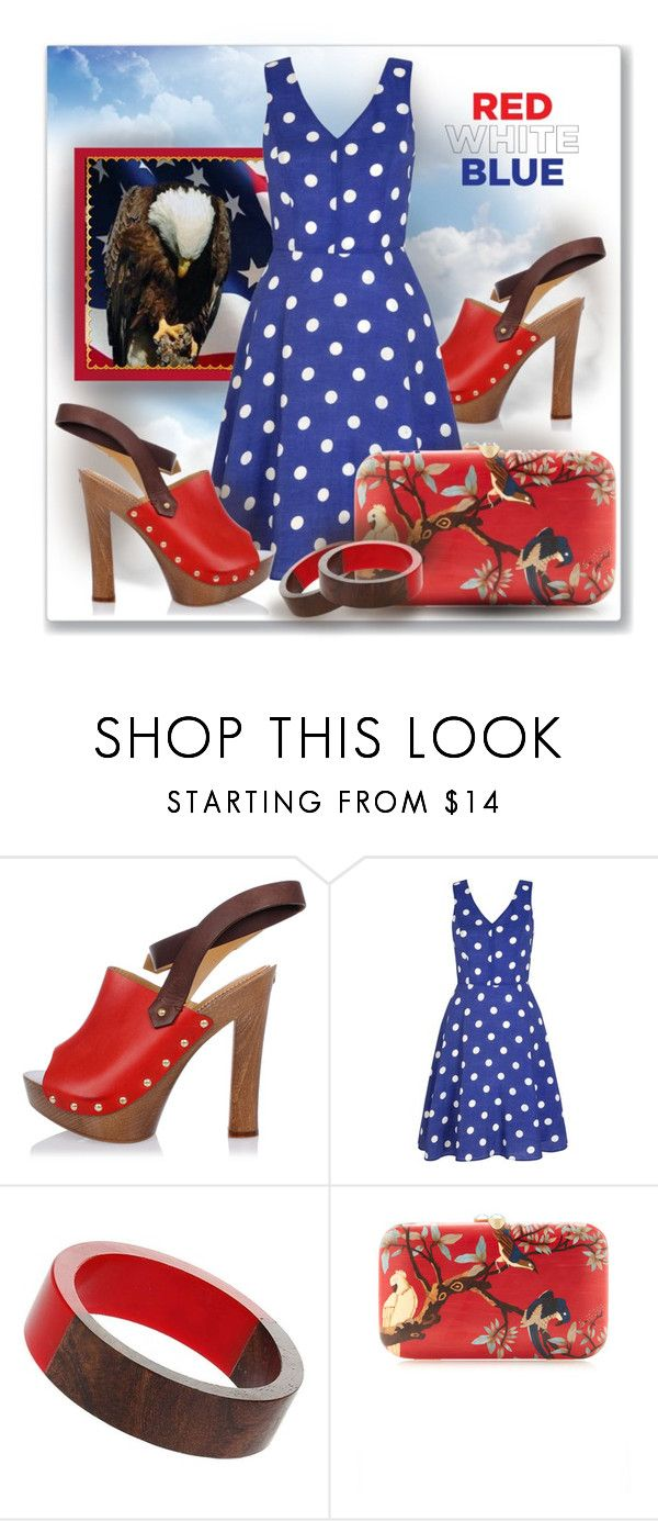 """""""Where eagles fly free"""" by interesting-times ❤ liked on Polyvore featuring Ciel, Dsquared2, Yumi, Dorothy Perkins, Silvia Furmanovich and fourthofjuly"""