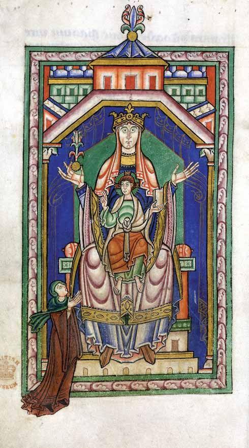 612EdShaftesbury3 Psalter picture C nun standing