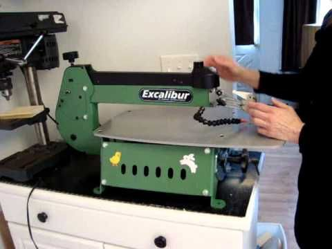 Installing and tensioning the blade on the excalibur scroll sawwmv installing and tensioning the blade on the excalibur scroll sawwmv youtube greentooth Gallery