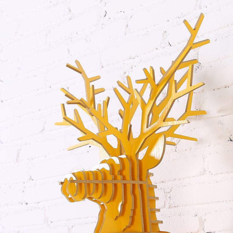 iWood Running Deer wall animal head wall sculpture, Guangzhou iWood ...