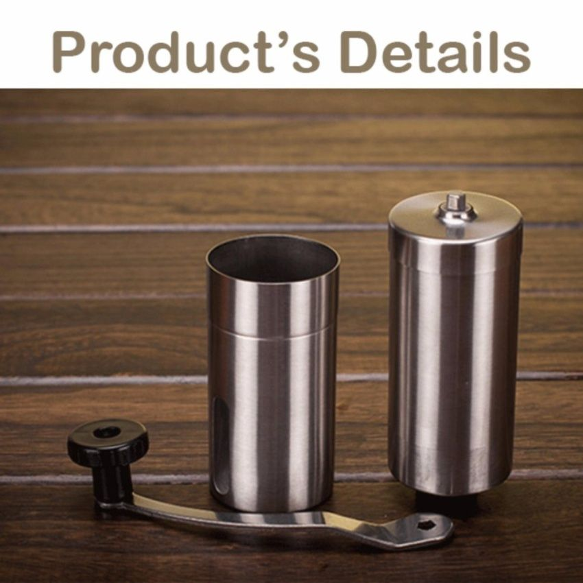 ราคาพิเศษนาทีนี้<SP>เครื่องบดเมล็ดกาแฟ สแตนเลส แบบมือหมุน Stainless Steel hand Coffee Grinder (Silver)++เครื่องบดเมล็ดกาแฟ สแตนเลส แบบมือหมุน Stainless Steel hand Coffee Grinder (Silver) (4 รีวิว) Adjustable Grinding Thinkness All part removable Easy to wash Made of Stainless steel Do not need bat ...++