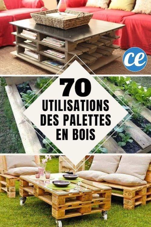 70 Utilisations Incroyables Des Vieilles Palettes En Bois En 2020 Palette Bois Deco Palette Bois Palette